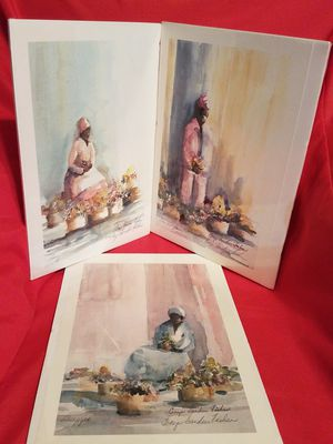 3 Watercolor Prints Signed By Artist for Sale in St. Petersburg, FL