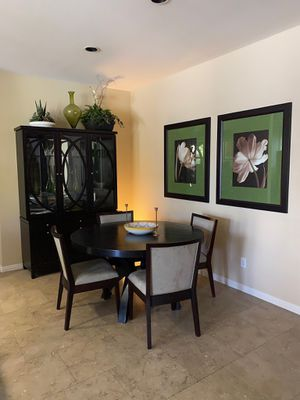 Beautiful dining set everything you see in the picture. Moving special. Free delivery. Today only . Great deal 👍 for Sale in Tustin, CA