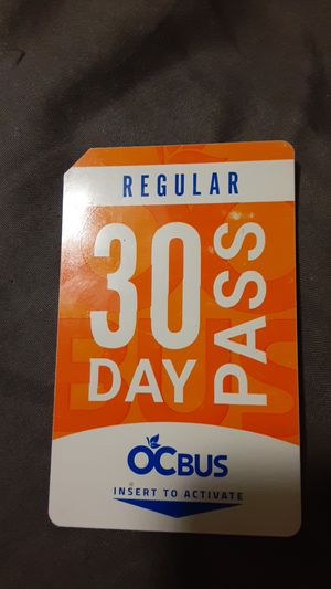 OC bus pass 30 day for Sale in Santa Ana, CA