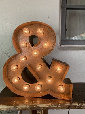 """24"""" metal dcorTive letters for Sale in Miami, FL"""