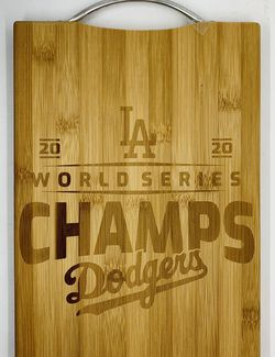 LA Dodger laser engraved bamboo high quality cuttingboard pop gift for Sale in Los Angeles,  CA