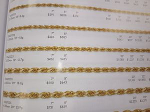 Italian Gold Chain All Styles to your Door for Sale in Utica, MI