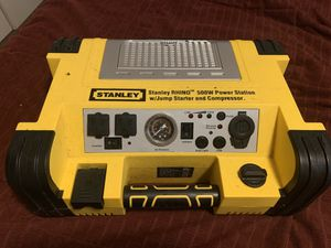 Stanley RHINO 500w power station w/ jump starter and compressor for Sale in Tampa, FL