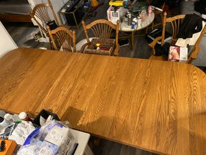 real wood dinning table with 6 chairs! Cheapest price here!Great for Christmas dinning! Way to elevate your dinning room. for Sale in Arlington, VA