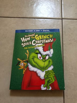 Movie HOW THE GRINCH STOLE CHRISTMAS Brand new ( Blu-ray + DVD + Digital HD for Sale in Los Angeles, CA