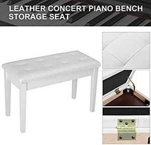 Wooden Keyboard Piano Bench Stool with Storage for Beginner White for Sale in Los Angeles, CA
