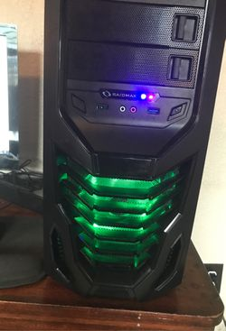 Gaming pc lg monitor 1000gb mouse keyboard and speaker for Sale in Fort Worth,  TX