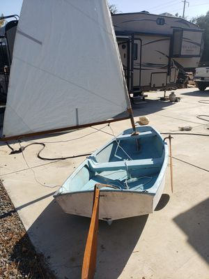 Sailboat Fiberglass sailing dingy all sails and rigging sails great. $300 for Sale in San Diego, CA