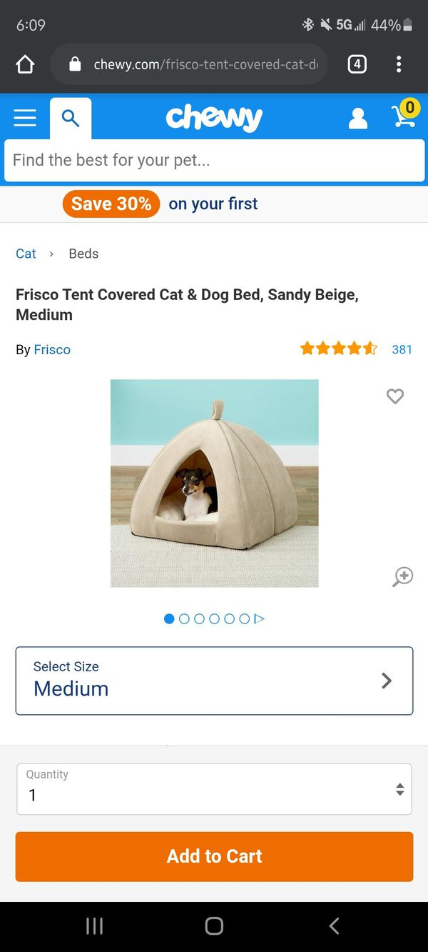 Dog Cat Burrow Bed/ House