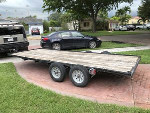 Car hauler / utility trailer with title for Sale in Medley, FL
