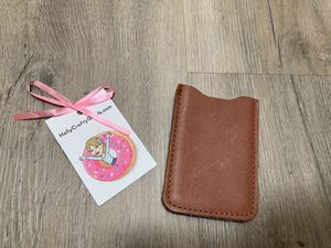 Mans Card Wallet /leather/wool super cute! for Sale in Hillsborough, CA