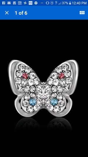 Cute little butterfly rhinestone crystal brooch for Sale in Richmond, CA