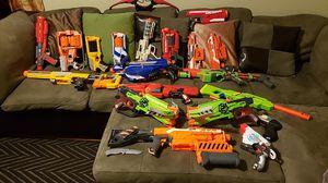 NERF WAR!!!!!! lot of nerf guns READ DESCRIPTION for Sale in Anaheim, CA