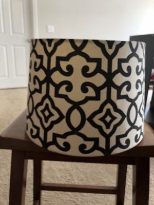 Black and ivory lamp shade for Sale in Nashville, TN