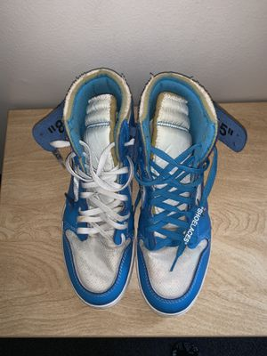 Jordan 1 retro high off white university blue for Sale in Wichita, KS