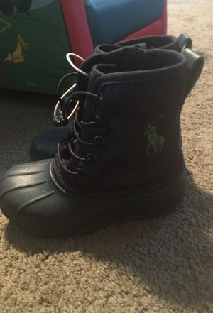 Brand new polo rain boots! Boys size ten! Never worn! for Sale in Decatur, GA