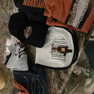Harley Davison Clothes And Hat 6-9 Mths for Sale in Clermont, FL