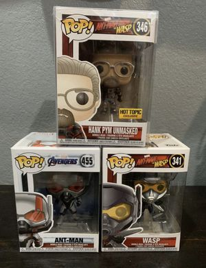 Funko Pop, Disney marvel avengers endgame , Ant-man, The wasp, Hank Pym. Bundle for Sale in San Antonio, TX