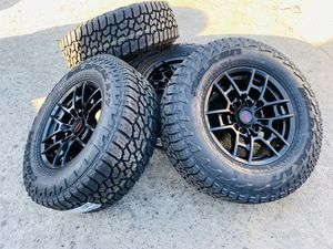 """17"""" New trd Style rims and Falken tires AT3W 6 lug. 2657017 for Sale in Modesto, CA"""
