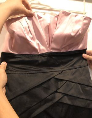 Pink and black short sleeves tube top dress sash back tie size medium for Sale in Tempe, AZ