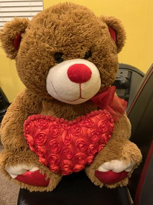 Valentines teddy bear with heart for Sale in Corona, CA