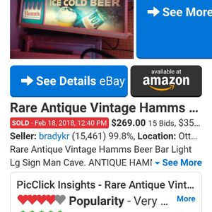 Hamms Antique Vintage Light Up Sign for Sale in Bakersfield, CA