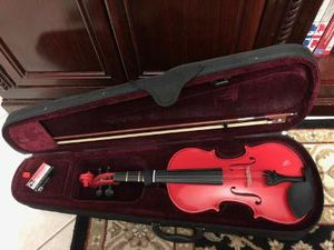 Red 4/4 full size violin with case & Bow & Rosin Good Condition for Sale in Davie, FL