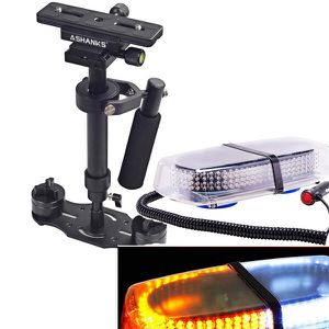 Handheld stabilizer & 240 LED White & Amber Roof Top 12V Mini Bar for Sale in Silverdale, WA