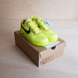 Nike Air Force 1 Low Off White OW Volt Size 8 for Sale in Brier, WA