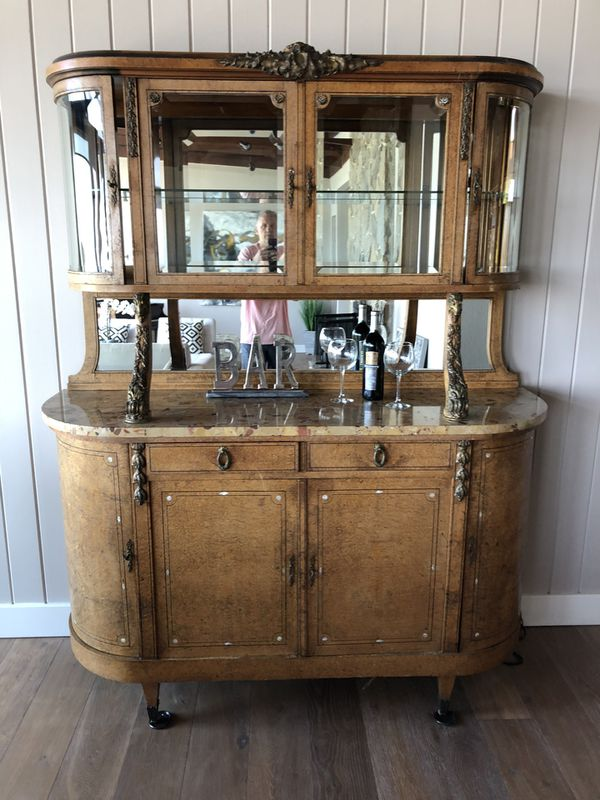 French Antique China Cabinet