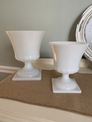 Vintage Milk Glass Planters/ Urns for Sale in Ashburn, VA
