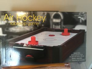 NEW in original box Air HOCKEY GAME great fun table top version !!put down the phones ..and have FUN!! for Sale in Northfield, OH