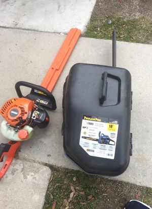 Chainsaw and trimmer for 300$ the pair chainsaw only used once comes with box and extra chain for Sale in San Bernardino, CA