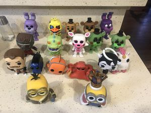 18 loose funko pop lot. Despicable me / bendy and the ink machine / hello neighbor/ rugrats/five nights at Freddy /starlord/finding Nemo for Sale in Santa Clarita, CA