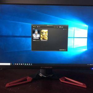 "Acer Predator XB271HU bmiprz 27"" WQHD (2560x1440) NVIDIA G-SYNC IPS Monitor for Sale in Ontario, CA"