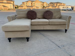 Can deliver - like new small reversible sectional couch sofa for Sale in Burleson, TX
