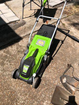 Electric lawn mower / electric chainsaw pole saw for Sale in Atlanta, GA