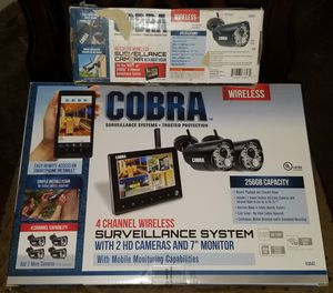 "3 HD Surveillance Cameras With7"" Monitor for Sale in Odessa, TX"