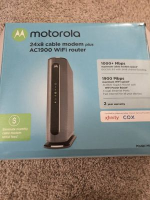 Motorola modem and router MG7700 for Sale in Channelview, TX