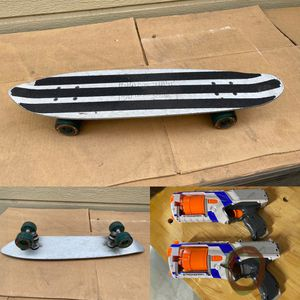 Mini skateboard and Modified Nerf gun both $30 for Sale in Oakland, CA