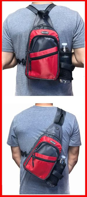 Brand New! Red Crossbody/Side Bag/Sling/Pouch/Converts To A Backpack Style For Everyday Use/Work/Outdoors/Hiking/Biking/Sports/Gym/Traveling for Sale in Carson, CA