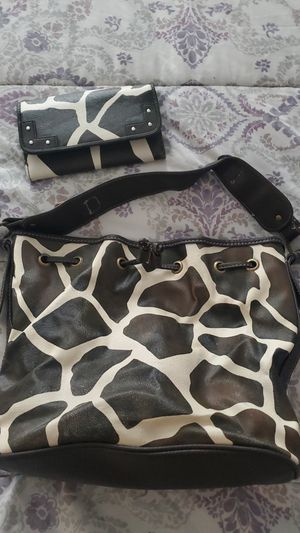 Used Purse and wallet brown and beige color medium size for Sale in Fontana, CA