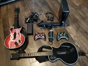 Xbox 360.S + 2 Controller + 15 Games + Kinect + 250G + Guitar Hero + Microphone + Headset. for Sale in Austin, TX