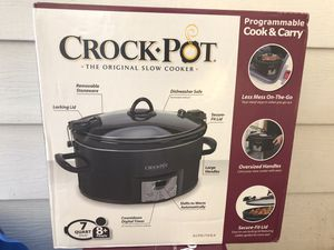 Crock Pot 7 qt slow cooker - new for Sale in Greenville, SC