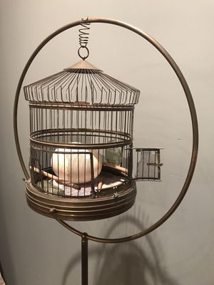 Brass hoop bird cage for Sale in New York, NY