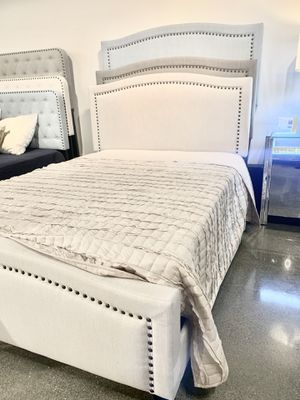 New Beige / Cream Bed Frame : Full • Queen • King : Mattress Set Sold Separately : Box Spring Required : Bedroom Set Available for Sale in Emeryville, CA