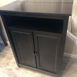 Desk Storage Cabinet For Printer Expresso Black for Sale in Rancho Cucamonga, CA