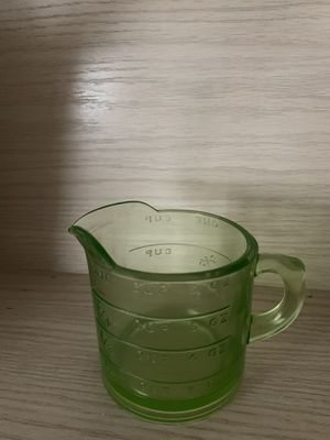 Vintage Green Glass Measuring Cup for Sale in Phoenix, AZ