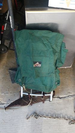 Backpack for hiking with some small cooking utensils and sleeping bag for Sale in Upland,  CA