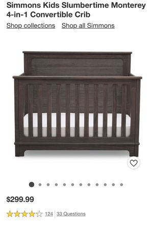 Used: Simmons Monterey Crib and Dresser/Changing Table Set for Sale in Springfield, VA